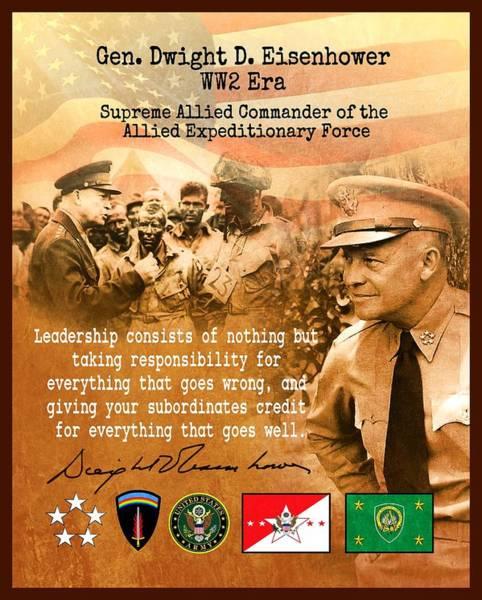 Tribute Digital Art - Dwight Eisenhower Tribute by John Wills