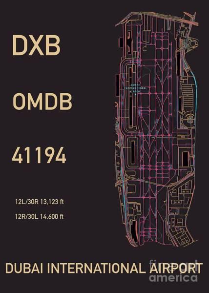Digital Art - Dxb Dubai Airport by Helge