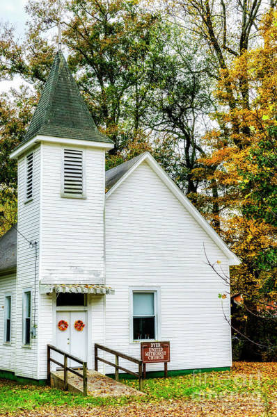 Photograph - Dyer United Methodist Church by Thomas R Fletcher