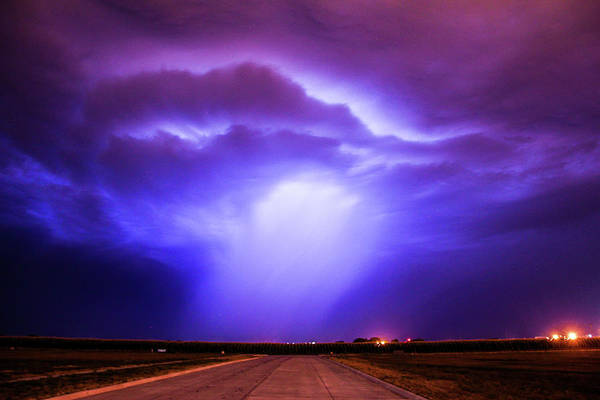 Photograph - Dying Late Night Supercell 002 by NebraskaSC