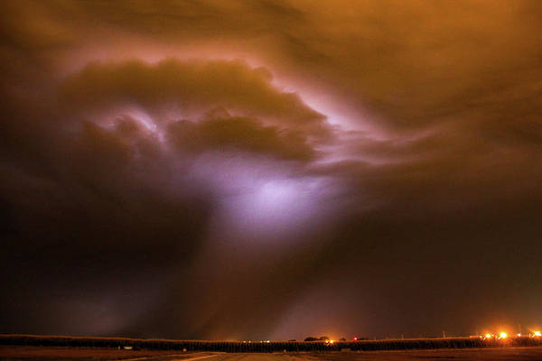 Photograph - Dying Late Night Supercell 004 by NebraskaSC