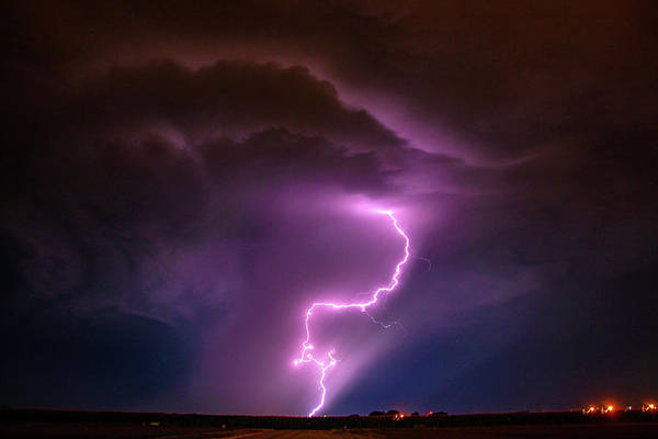 Photograph - Dying Late Night Supercell 006 by NebraskaSC