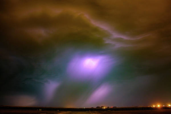 Photograph - Dying Late Night Supercell 007 by NebraskaSC
