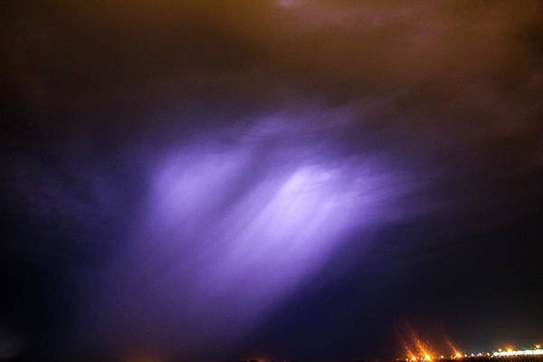 Photograph - Dying Late Night Supercell 015 by NebraskaSC