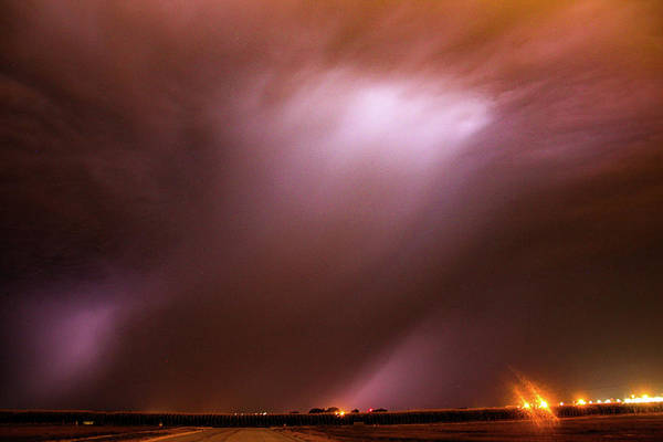 Photograph - Dying Late Night Supercell 018 by NebraskaSC