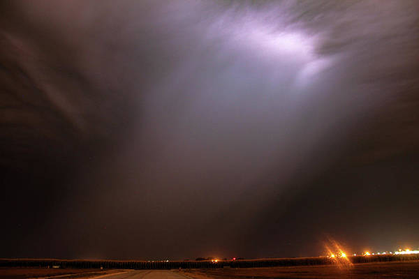 Photograph - Dying Late Night Supercell 021 by NebraskaSC