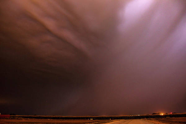 Photograph - Dying Late Night Supercell 027 by NebraskaSC