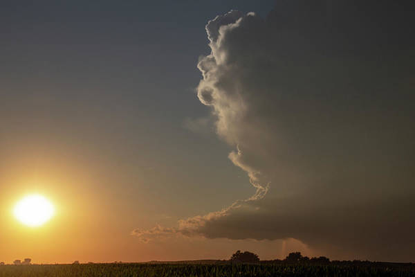 Photograph - Dying Nebraska Thunderstorms At Sunset 041 by NebraskaSC