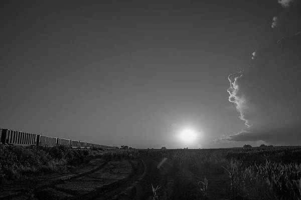 Photograph - Dying Nebraska Thunderstorms At Sunset 044 by NebraskaSC