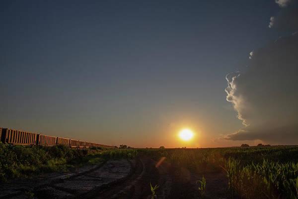 Photograph - Dying Nebraska Thunderstorms At Sunset 045 by NebraskaSC
