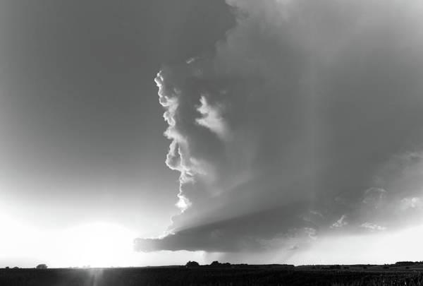 Photograph - Dying Nebraska Thunderstorms At Sunset 058 by NebraskaSC
