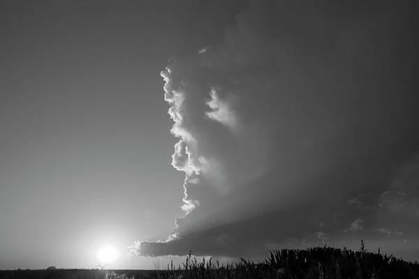 Photograph - Dying Nebraska Thunderstorms At Sunset 060 by NebraskaSC