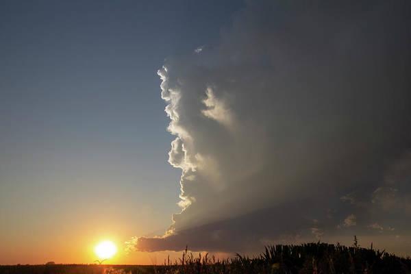 Photograph - Dying Nebraska Thunderstorms At Sunset 061 by NebraskaSC