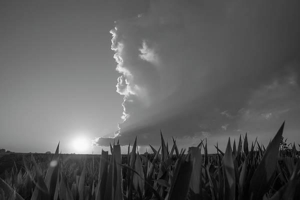 Photograph - Dying Nebraska Thunderstorms At Sunset 062 by NebraskaSC
