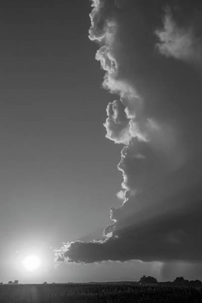 Photograph - Dying Nebraska Thunderstorms At Sunset 064 by NebraskaSC