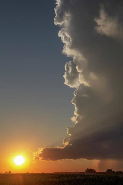 Photograph - Dying Nebraska Thunderstorms At Sunset 065 by NebraskaSC