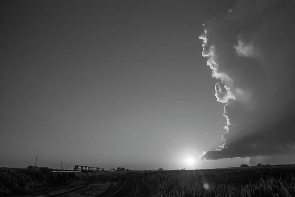 Photograph - Dying Nebraska Thunderstorms At Sunset 066 by NebraskaSC