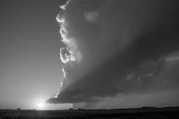 Photograph - Dying Nebraska Thunderstorms At Sunset 071 by NebraskaSC