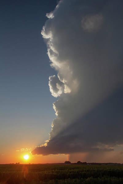 Photograph - Dying Nebraska Thunderstorms At Sunset 073 by NebraskaSC