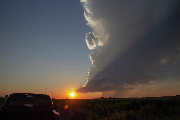 Photograph - Dying Nebraska Thunderstorms At Sunset 074 by NebraskaSC