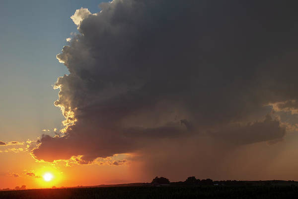 Photograph - Dying Nebraska Thunderstorms At Sunset 077 by NebraskaSC