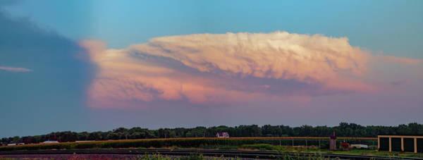 Photograph - Dying Nebraska Thunderstorms At Sunset 078 by NebraskaSC
