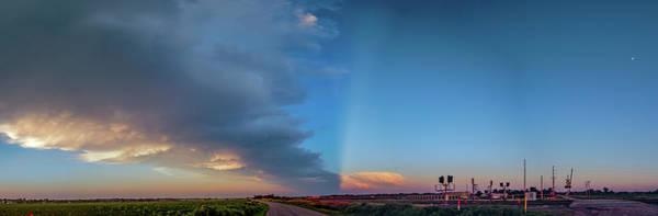 Photograph - Dying Nebraska Thunderstorms At Sunset 079 by NebraskaSC