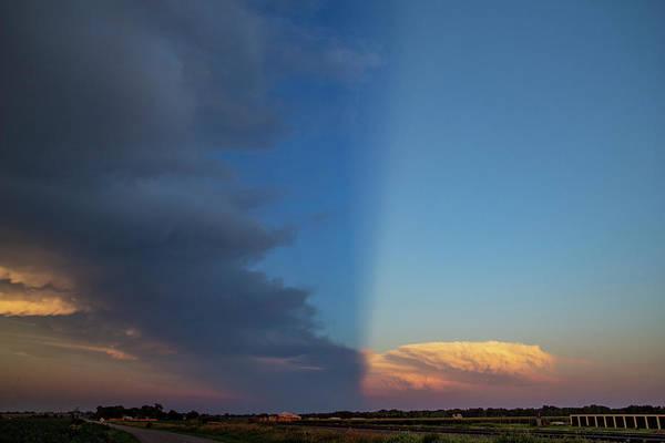 Photograph - Dying Nebraska Thunderstorms At Sunset 080 by NebraskaSC