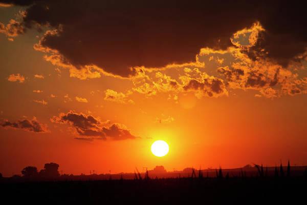 Photograph - Dying Nebraska Thunderstorms At Sunset 085 by NebraskaSC
