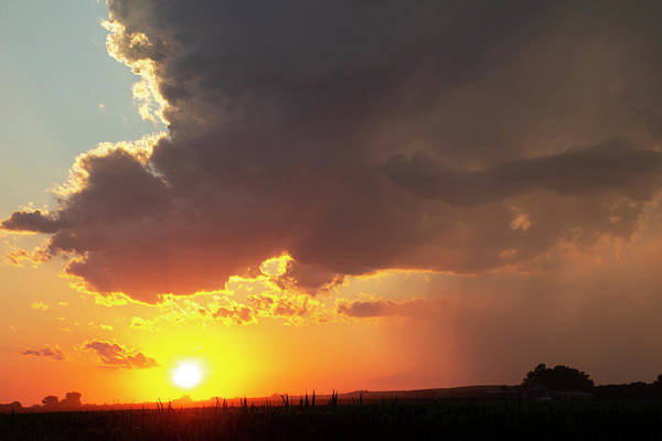 Photograph - Dying Nebraska Thunderstorms At Sunset 086 by NebraskaSC