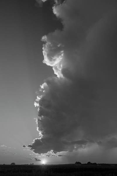 Photograph - Dying Nebraska Thunderstorms At Sunset 089 by NebraskaSC