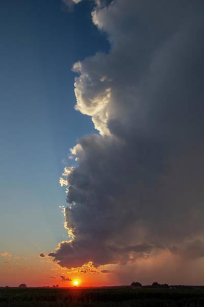 Photograph - Dying Nebraska Thunderstorms At Sunset 090 by NebraskaSC