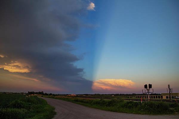 Photograph - Dying Nebraska Thunderstorms At Sunset 091 by NebraskaSC