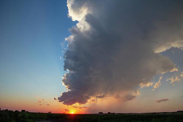 Photograph - Dying Nebraska Thunderstorms At Sunset 093 by NebraskaSC