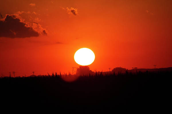 Photograph - Dying Nebraska Thunderstorms At Sunset 095 by NebraskaSC