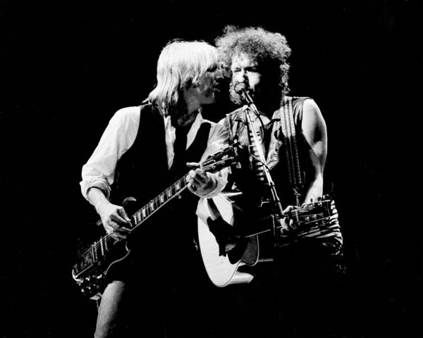 1980 1989 Photograph - Dylan & Petty True Confessions Tour by Larry Hulst