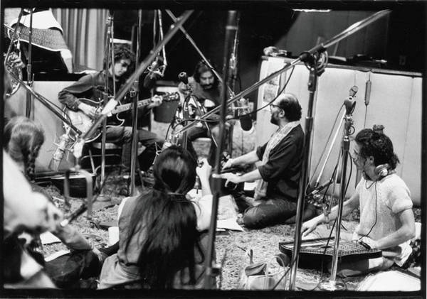 Poet Photograph - Dylan, Ginsberg, & Others At Recording by Fred W. McDarrah