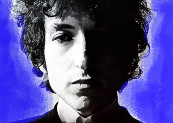 Blue Oyster Cult Wall Art - Mixed Media - Dylan Homesick Blues  by Enki Art