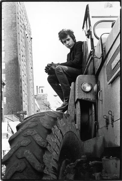 Bulldozer Photograph - Dylan In Sheridan Square Park by Fred W. McDarrah