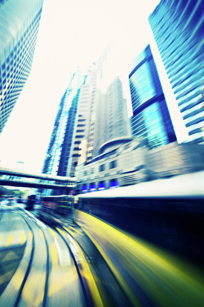 Long Tail Photograph - Dynamic Modern City Blur In Motion by Itsskin