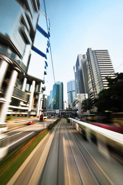 Long Tail Photograph - Dynamic Modern City by Itsskin