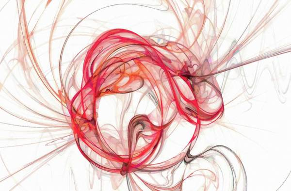Digital Art - Dynamic Universe Abstract Art Red by Don Northup