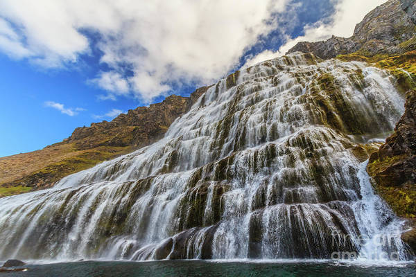 Photograph - Dynjandi Waterfall, Iceland by Lyl Dil Creations
