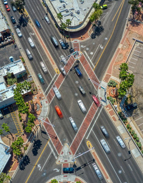 Photograph - E 5th Avenue N Goldwater Intersection  by Ants Drone Photography