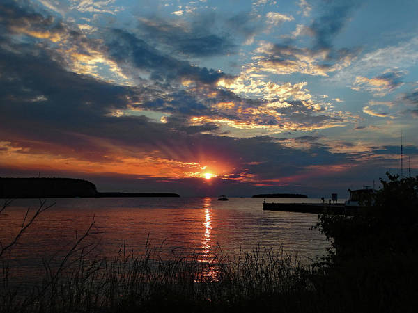 Photograph - Eagle Harbor Summer Sunset by David T Wilkinson