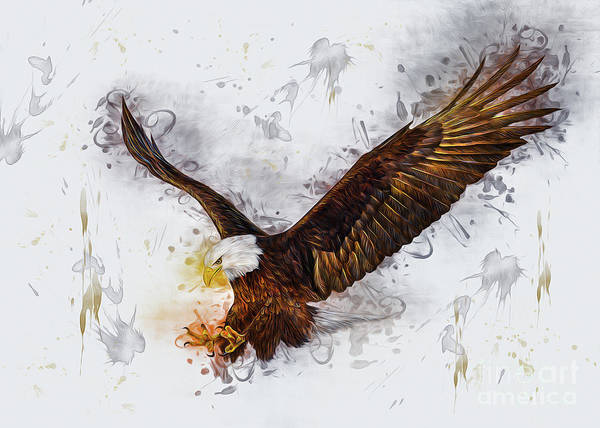 Digital Art - Eagle by Ian Mitchell