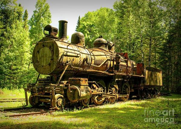 Wall Art - Photograph - Eagle Lake And West Branch Railroad Locomotive - Allagash Maine by Jan Mulherin