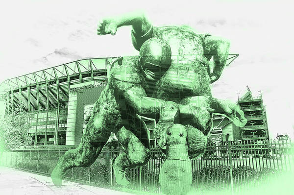 Photograph - Eagles Green - Lincoln Financial Stadium by Bill Cannon