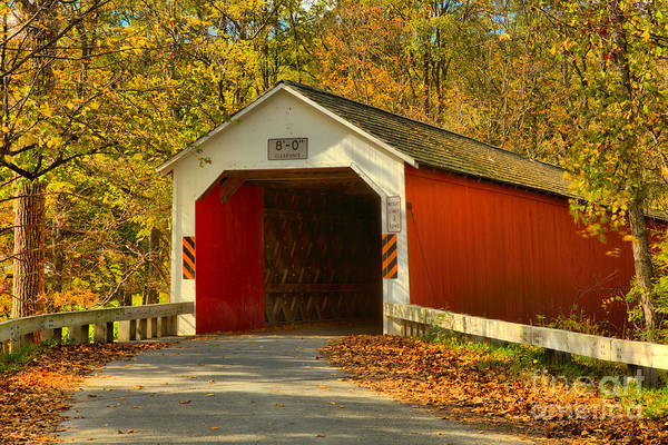 Photograph - Eagleville Covered Bridge by Adam Jewell