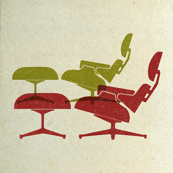 Wall Art - Digital Art - Eames Lounge Chairs I by Naxart Studio